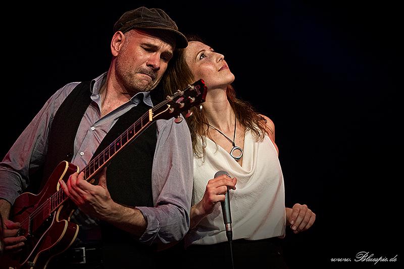 Jens Filser und Melanie Bartsch, Gitarrist und Sängerin von Get the Cat